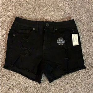 Aeropostale NWT black jean high wasted shorts